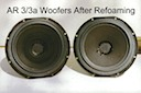 AR-3 & AR-3a Woofers After Refoaming