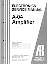 A-04 Amplifier Service Manual pg1