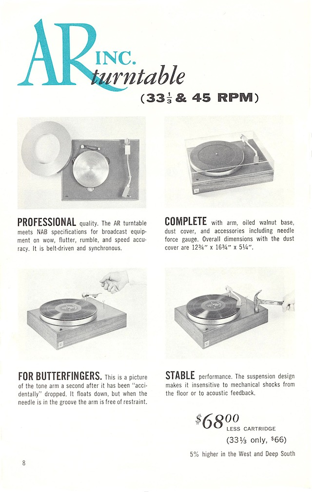 AR-3 and turntable page 8