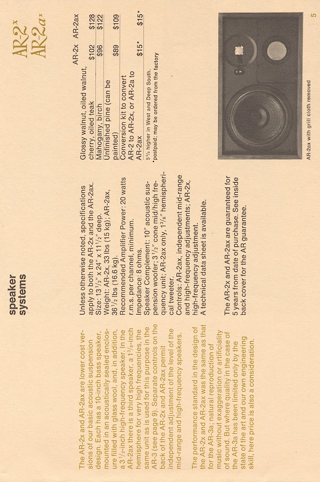 ar hifi components late'60s page 7