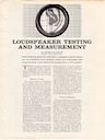 Loudspeaker Testing and Measurement by Edgar Villchur pg1